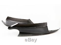 Pour Bmw M3 E90 E92 E93 Pare-chocs En Fibre De Carbone Réel Avant Splitter Spoiler Série 3
