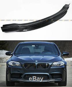R Style De Fibre De Carbone Pare-chocs Avant Centre Chin Lip Spoiler Pour 2012-2017 M5 Bmw