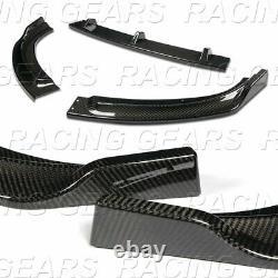 Real Carbon Fiber Front Bumper Lip Kit Fit 11-13 Bmw Série 3 E92 E93 2dr/coupé