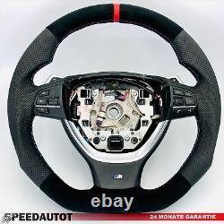 Tausch Tuning Abgeflacht M-power Alcantara Lenkrad Smg Bmw F10, F11, F12, F13, Rot