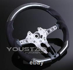 Uk Stock Véritable Carbon Alcantara Flat Steering Wheel Pour Bmw F10 F12 F06 M5 M6