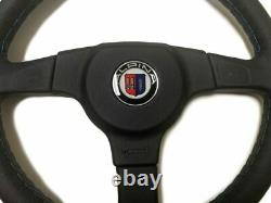 Véritable Alpina Bmw E30 / E30 M3 Cuir 3-spoke Volant Avec Adaptateur Hub