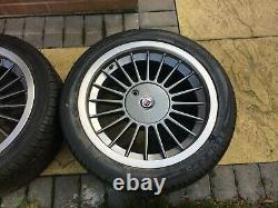 Véritable Bmw E28 24 32 Alpina Alliages 17x8j Avec Pneus Neufs Caps 5x120