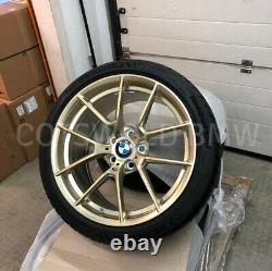 Véritable Bmw F87 M2 763m M Performance Forged Gold Wheels With Tyres 36115a3de48