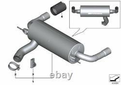 Véritable Bmw M140i M Performance Exhaust Avec Tuyaux D'échappement Chrome
