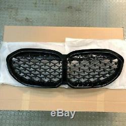 Véritable Bmw Série 1 F40 Motif Diamant Noir Shadowline 51138080490 Grillages