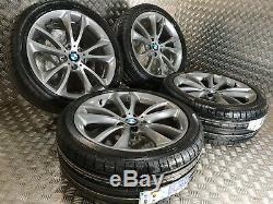 Véritable Bmw Série 5 366 F10 19 Jantes Alliage + Nouveaux Pneus M Sport F11 F06 F12