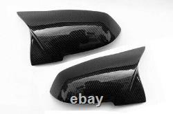 Véritable Casquette Miroir Aile En Fibre De Carbone Couvre Bmw 1 2 3 4 X1 Série M3 M4 Style