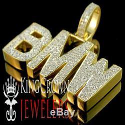 Véritable Diamant Réel Bmw Voiture De Luxe Pendentif En Or Jaune 10k Fini Charme Personnalisé