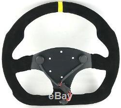 Véritable Modèle Mod Momo. 30 Volant Daim Noir 320mm. Piste Rally Etc