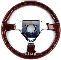 Véritable Volant En Bois Momo Veloce S 350mm. Nouveau Vieux Stock. Rare! 18a