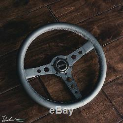 Volant Viilante Corsa 350 En Cuir Véritable Cousu Tricoté Bmw E30 M3
