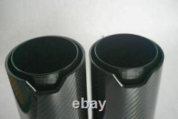 Y Style Paire Brillant Real Carbon Fiber Exhaust Dual Twin Pipe End Tips Pour Bmw